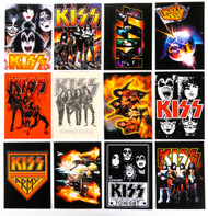 KISS Ikons Trading Cards - Set of 12 Stickers.