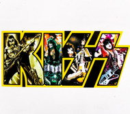 KISS Sticker - Band in Logo