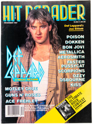 KISS Magazine - Hit Parader December 1987, Def Leppard, Ace Frehley