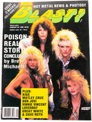 KISS Magazine - Blast January 1988, Poison, Vinnie Vincent, Gene Simmons