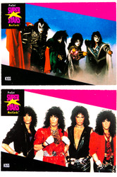 KISS Trading Cards - Super Stars Music Cards, (set of 2).