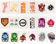 KISS Ikons Trading Cards - Temporary Tattoos, (full set of 18)
