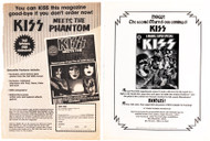 KISS Magazine Ad - KISS Meets the Phantom mag and Marvel Super Special, (set of 2)