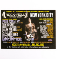 KISS Postcard - Rock n Roll Fantasy Camp w/Paul