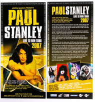 KISS Flier - Paul Stanley Live to Win Tour 2007 ad