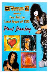 KISS Postcard - Paul Stanley Wentworth Gallery, blue