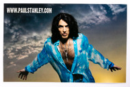 KISS Postcard - Paul Stanley Live to Win Tour 2007 ad, clouds