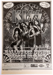 KISS Clipping - Newspaper ad, Psycho Circus Opening Night, LA 1998