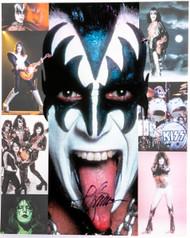 KISS Autograph - Butterfield's Auction 8 x 10, Gene Simmons, (C)  - LAST ONES!