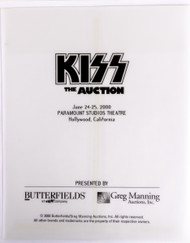 KISS Envelope - Butterfield's Auction Photo Envelope, EMPTY