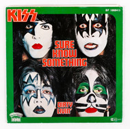KISS 45 RPM Vinyl - Sure Know Something/Hard Times, (picture sleeve), Germany