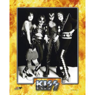 KISS Photo - Hotter Than Hell '74, studio B&W.