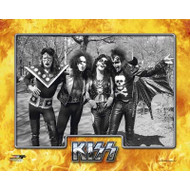 KISS Photo - Hotter than Hell '74, In the Park B&W