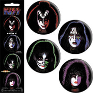 KISS Button Set -Solo Faces