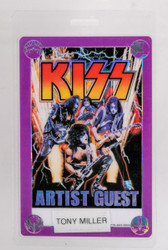 KISS Backstage Pass - KISS/Aerosmith laminate, Artist Guest