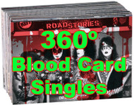 KISS Trading Cards - Blood Card SINGLES, 360º