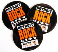 KISS Stickers - Detroit Rock City, round, (set of 3)