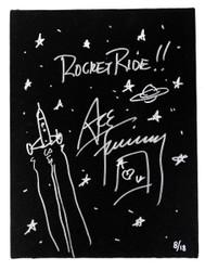 KISS Ace Frehley Autographed Rocket Ride Artwork Canvas, #08/18 - LAST ONE!