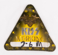 KISS Backstage Pass - Rock the Nation, yellow triangle working, (used)