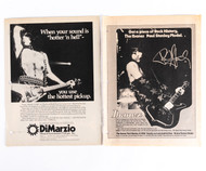 KISS Magazine ads - Paul Dimarzio and Ibanez, (set of 2) B&W