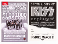 KISS Fliers - Guitar Center and Unplugged Poster offer