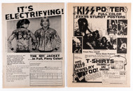 KISS Ad - KISS Tyvek Jacket and KISS Poster magazine ads, (set of 2)
