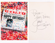 KISS Autograph - Birthday card from Gene Simmons
