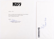 KISS Costume Certificate of Authenticity - Eric Carr Belt 1980