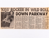 KISS Clipping - KISS Rocker in Wild Roll Down Parkway