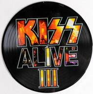 KISS Vinyl Record LP - Alive III, PICTURE DISC