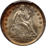 1853 Seated Liberty Half Dime Arrows. PCGS graded MS-66. CAC Approved.
