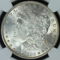 1883 Morgan S$1 NGC MS66