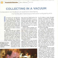 Article: Collecting in a Vacuum, Collaboration is Essential to Success