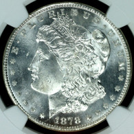 1878-S Morgan Silver Dollar NGC MS64+