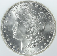 1885 Morgan Silver Dollar NGC MS66