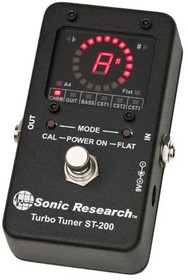 Sonic Research ST-200 Turbo Tuner Guitar Strobe Tuning Pedal