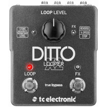 TC Electronics DITTO X2 Stereo Looper Guitar Effects Pedal 1/2 speed and reverse
