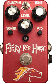 VFE Fiery Red Horse-fuzz feat. active treb and bass eq.
