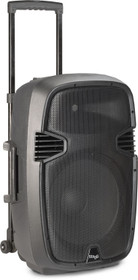 "STAGG 12"" 2-way active trolley speaker, analog, class B, bi-amplification, 160 watts peak power (140 + 20)"