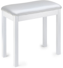 STAGG 21840White metal piano or keyboard bench with black vinyl top