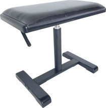 STAGG Highgloss black hydraulic piano bench with black fireproof velvet top and central leg