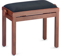 STAGG Matt piano bench, mahogany colour, with black velvet top