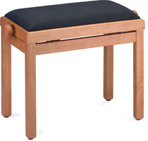 STAGG Matt piano bench, maple colour, with black velvet top