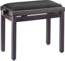 STAGG Matt piano bench, rosewood colour, with black velvet top
