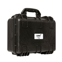 STAGG Water- and dustproof universal transport case with pick and pluck foam 38x27x18cm