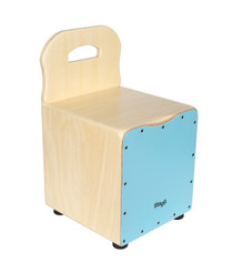 STAGG Basswood kid's cajón with EasyGo backrest, blue front board