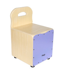 STAGG Basswood kid's cajón with EasyGo backrest, purple front board