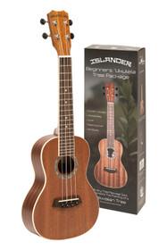 "ISLANDER Traditional mahogany concert ukulele ""reforest Hawai"" MCB-4 + bag"
