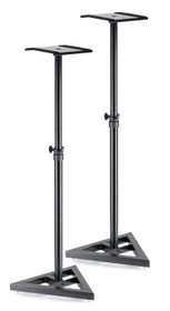STAGG Two, height-adjustable, steel studio monitor or light stands