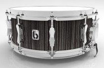 "BRITISH DRUM CO. 14 x 5.5"" Legend snare drum, cold-pressed birch 6 mm shell, Carnaby Slate finish"